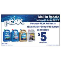 Peak Antifreeze & Coolant Rebate