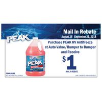 Peak RV & Marine Antifreeze Rebate